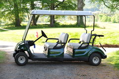Double golf cart. On a golf course Royalty Free Stock Images