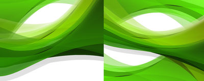 Double green abstract background Stock Images