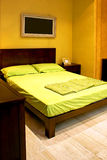 Double green bed Stock Photography