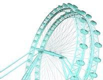 Double Green Carousel Vector Royalty Free Stock Photos