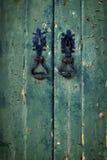 Double Green Door Stock Photo