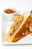 Double grill chesse sandwich Stock Photography