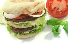 Double Hamburger Stock Image