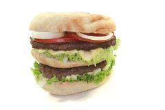 Double Hamburger Stock Photos