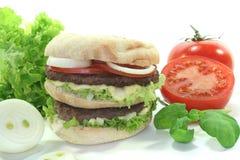 Double hamburger Royalty Free Stock Images