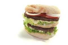 Double hamburger Stock Photo