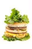 Double hamburger Photographie stock