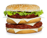 Double hamburger Stock Photos