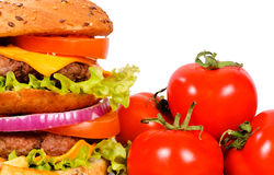 Double hamburger Royalty Free Stock Images