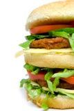 Double hamburger Royalty Free Stock Photos
