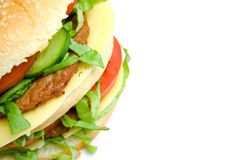 Double hamburger Stock Photography