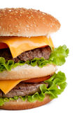 Double hamburger macro Royalty Free Stock Image