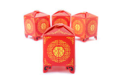 Double happiness. Chinese wedding symbol of double happiness Royalty Free Stock Photo
