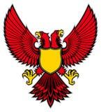 Double head bird mascot spread the wing Royalty Free Stock Photo