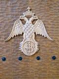 Double head eagle. Symbol of orthodox relegion stock image
