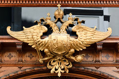 Double headed eagle. A double headed eagle on a bakery in Graz, Styria, Austria stock photo