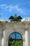 Double headed eagle in the austrian imperial palace hofburg in v Royalty Free Stock Photo