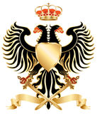 Double-headed eagle color. Double-headed eagle with crown and swords. Vector illustration Royalty Free Stock Photography