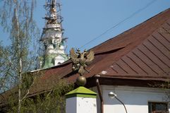 Double-headed eagle. In the Kostroma city Stock Image
