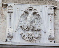 Double-headed eagle emblem Stock Photo