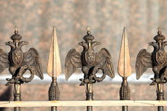 Double-headed eagle on the fence Royalty Free Stock Photography