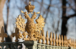 Double-headed eagle on the fence Royalty Free Stock Images