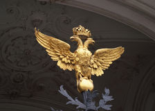 Double-headed eagle on Hermitage, Saint-Petersburg Royalty Free Stock Images