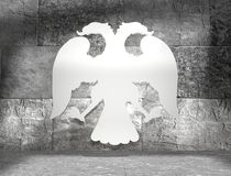 Double headed eagle icon Stock Images