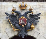 Double-headed eagle of the Russian Empire royalty free stock image