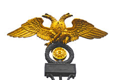 Double headed eagle  the Russian national emblem Stock Photos