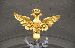 Double-headed eagle, St.Petersburg. Royalty Free Stock Images