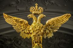 Double-headed eagle. In St.Petrsburg Stock Image