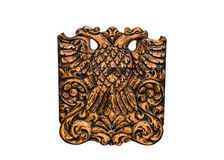 Double Headed Eagle on white  background Royalty Free Stock Photo