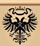 Double-headed heraldic eagle Stock Photos