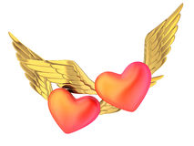 Double heart Royalty Free Stock Photos