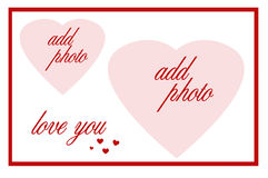 Double heart frame Stock Photography