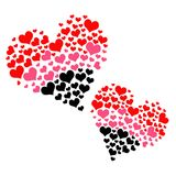 Double Hearts Stock Photo