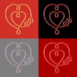 Double hearts Stock Images