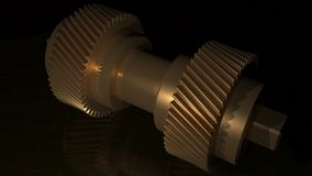 Double helical gear - Pinion Stock Photo
