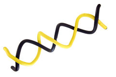 Double Helix. In yellow and black, on a white background Stock Photography