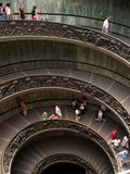 Double Helix. A double helix staircase in Vatican museum, Italy stock photos