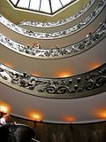 Double Helix. A double helix staircase in Vatican museum Italy royalty free stock photo