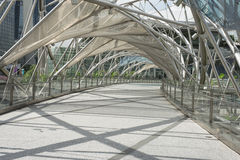 The Double Helix Bridge Stock Photo