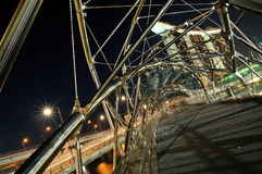 The Double-Helix Bridge, Singapore. A picture of the Helix Bridge at the Marina Promenade in Singapore Stock Images