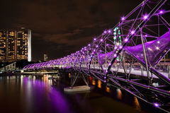 Double Helix Bridge, Singapore Royalty Free Stock Image