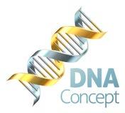 Double Helix DNA Genetics Strand Concept Stock Photography