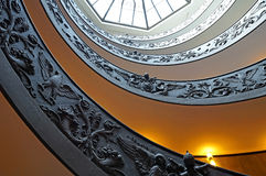 The Double Helix Staircase at the Exit of the Vatican Museums. VATICAN - MAY 2, 2016: The Double Helix Staircase, also known as Bramante Staircase, at the Exit Royalty Free Stock Image