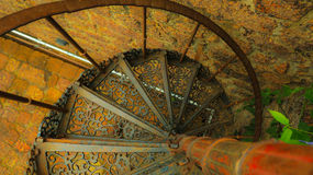 Double helix staircase. Double helix metal staircase goa Royalty Free Stock Images