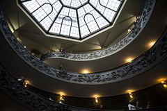 The Double Helix Staircase in the Vatican Museums in the Vatican City in Rome Italy. Rome Italy, the Eternal city, which has been a destination for tourists Stock Photos