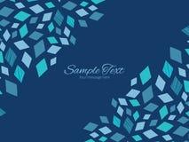 Double horizontal bleu de texture de mosaïque de vecteur Images libres de droits